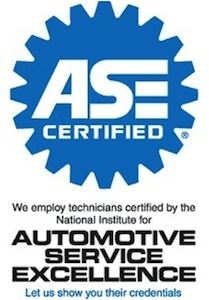 ase certified automotive repair center autmotive service excellence certified